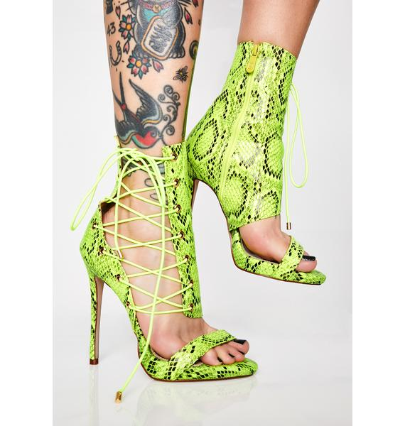 AZALEA WANG Love Me Love Me Not Stiletto Heels