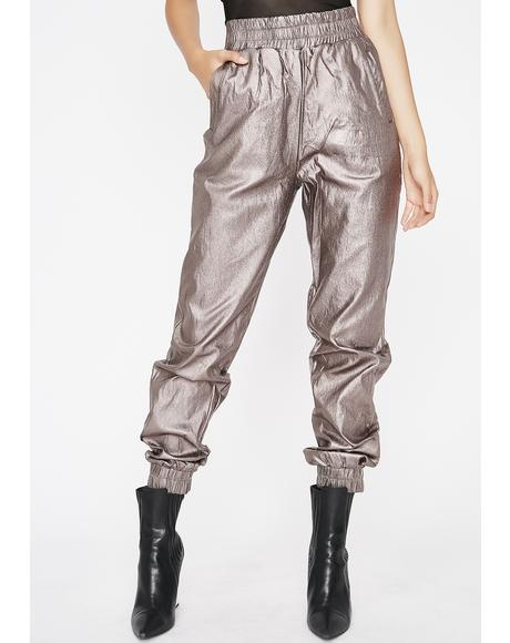 Chrome Can't Touch Diz Metallic Joggers