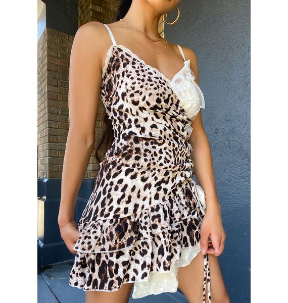 Ebonie N Ivory Leopard And Lace Dress