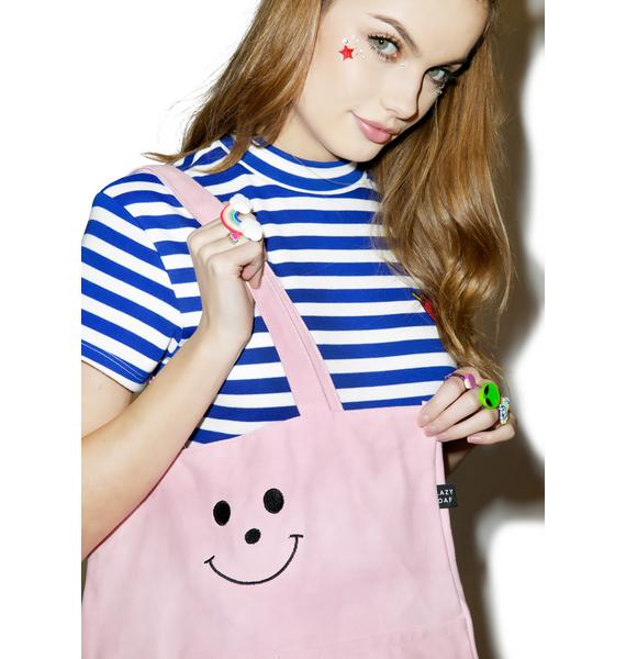 Lazy Oaf Happy Face Tote Bag
