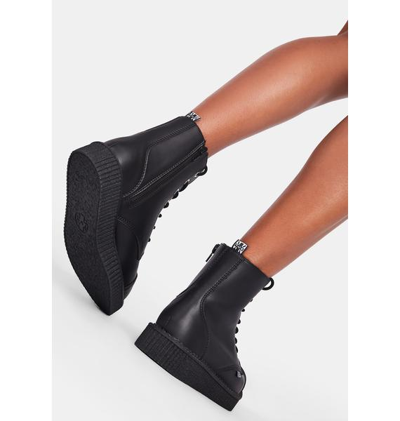 T.U.K. TUKskin Pointed Lace Up Boots