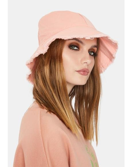 Sweet Totally Dude Frayed Bucket Hat