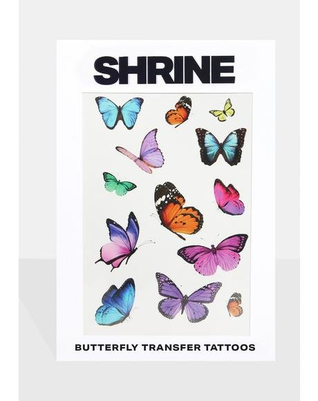Butterflies Transfer Tattoos