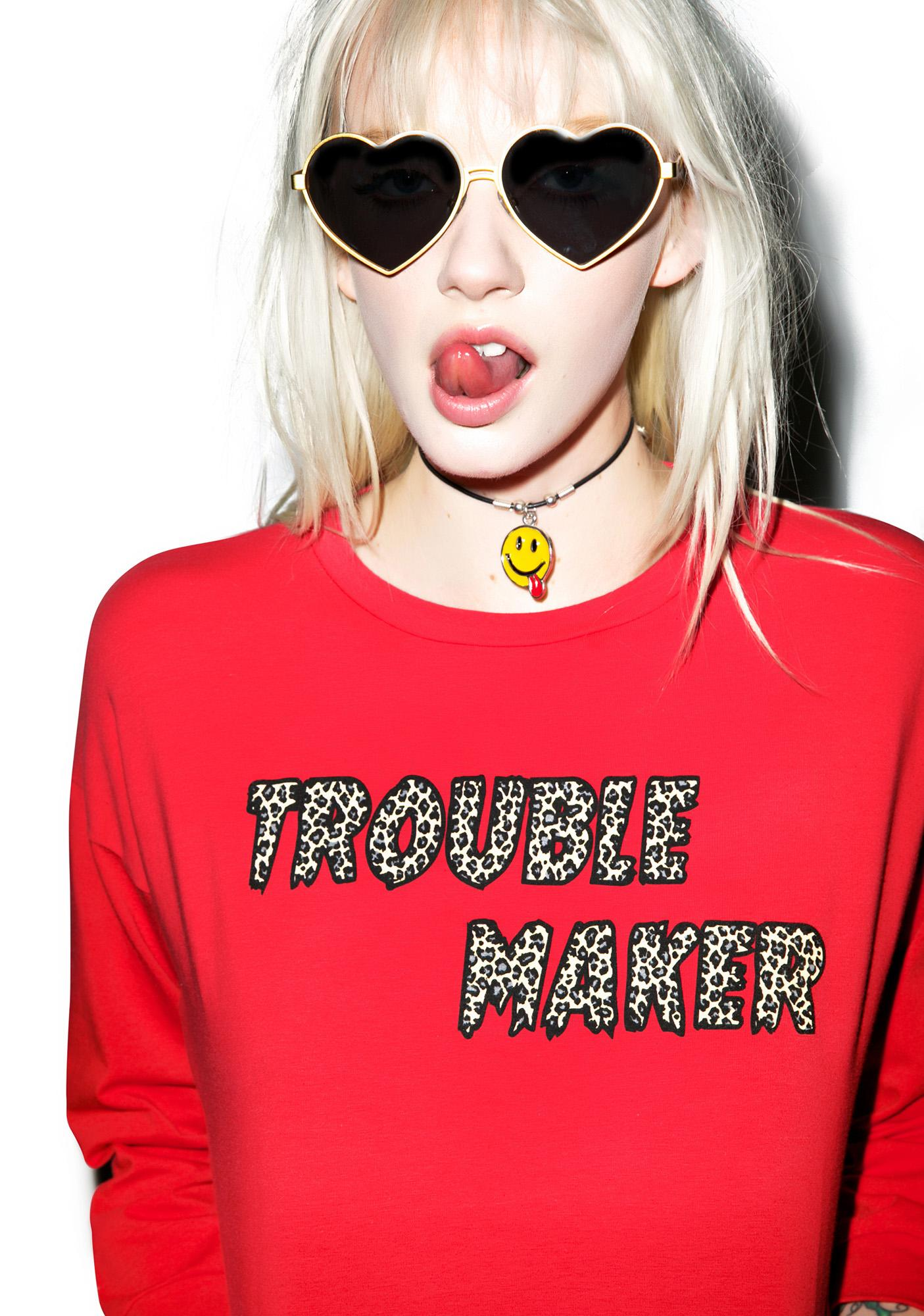 Valfré Trouble Maker Crop Sweatshirt