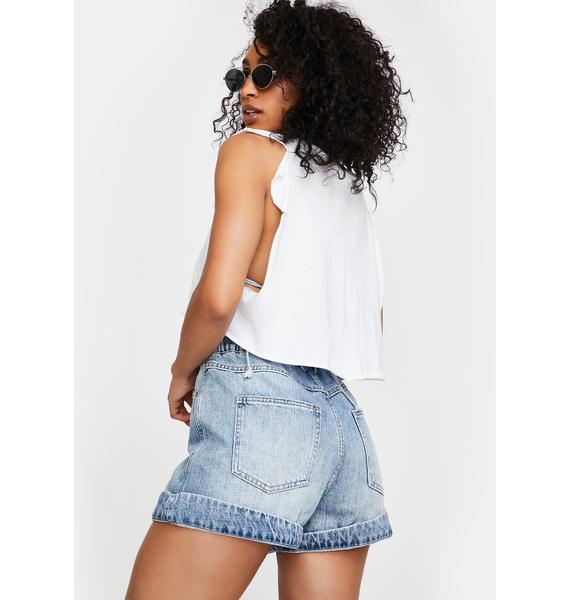Pistola Jessa High Rise Denim Shorts