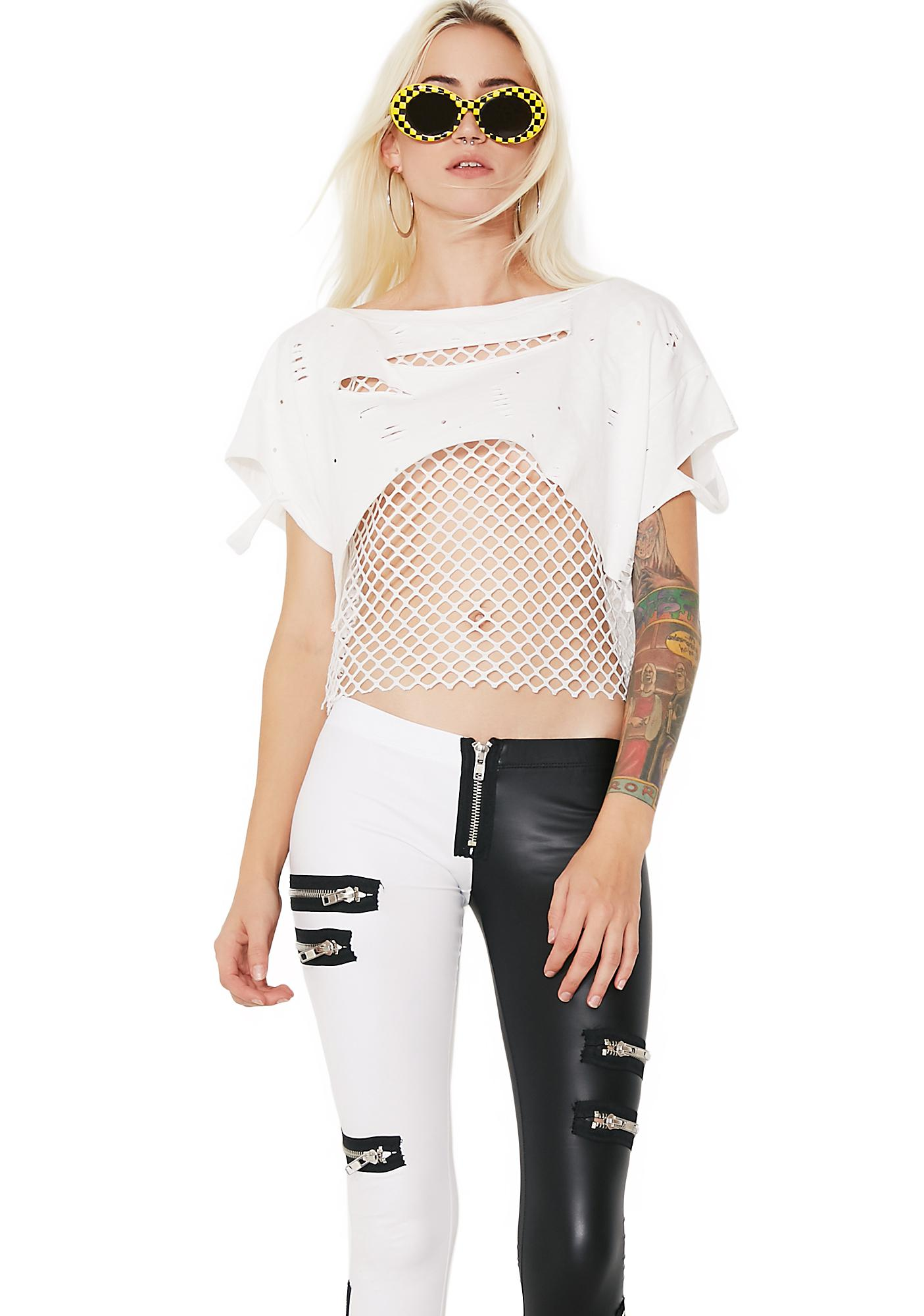 Crossfire Mesh Layered Top