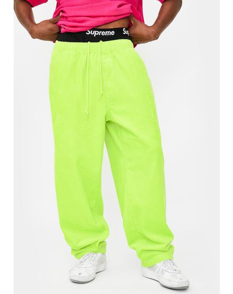 Easy Big Boy Neon Cord Pants