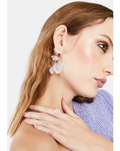 I'm So Iridescent Butterfly Earrings
