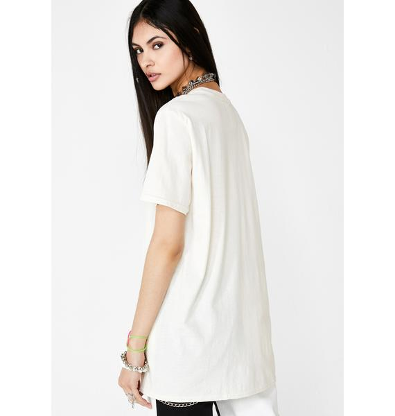 Milk It Embroidered Angel Graphic Tee