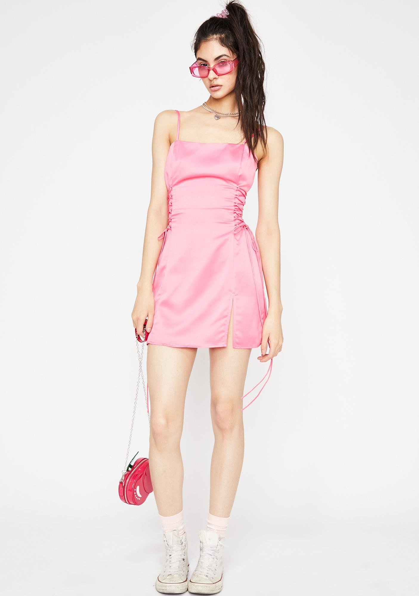 Candy Spoil Myself Lace-Up Dress