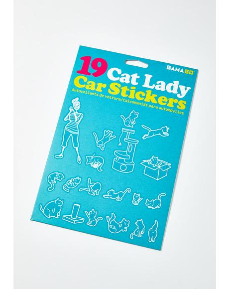 Cat Lady Car Sticker Pack