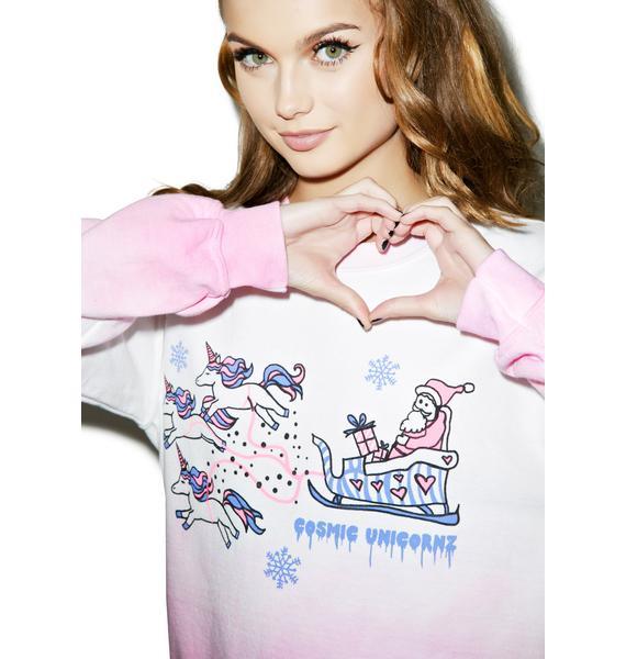 Cosmic Unicornz Cosmic Unicorn Sleigh Sweatshirt