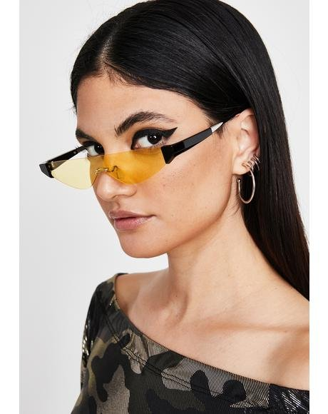 Honey Sleek Chic Cat Eye Sunglasses