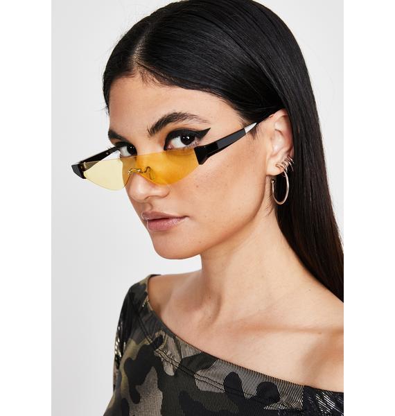 Honey Sleek Chic Cat Eye Sunglasses