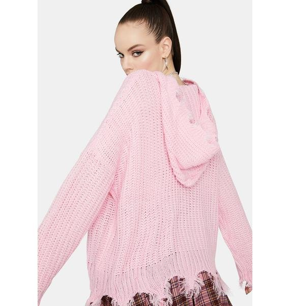 Bubblegum Never Expected Pullover Sweater