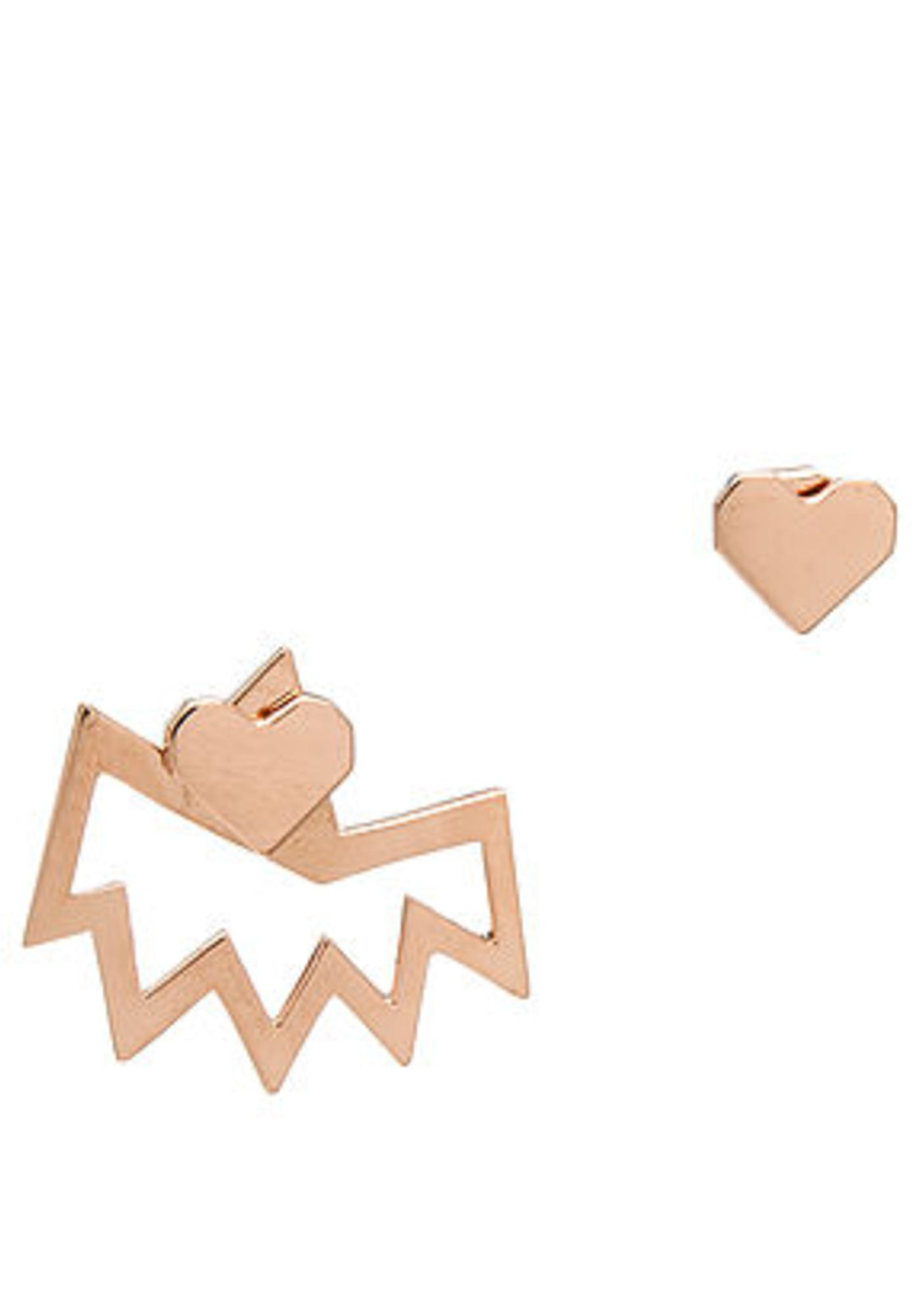 Love + Made Love + Made X Miss Wax Gold Earring