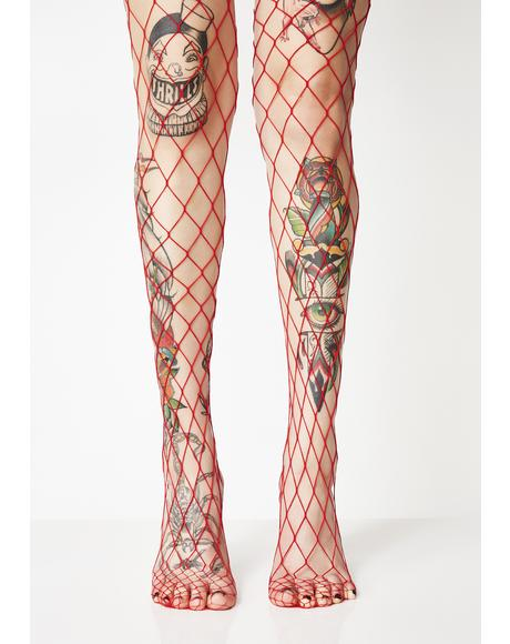 Sport Mode Fishnet Tights