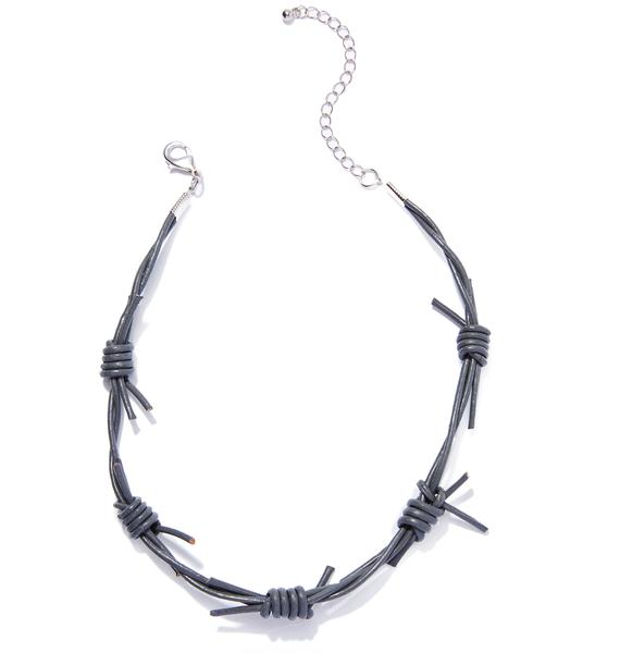 Fight Club Barbed Wire Choker