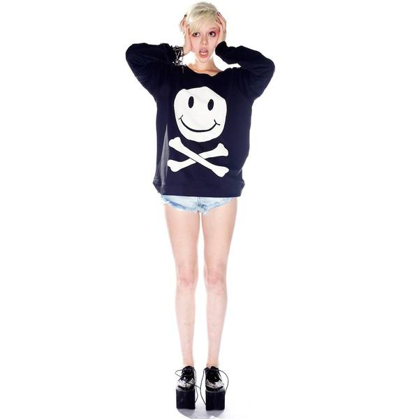 Zoe Karssen Dead 2 Me Smile Sweater
