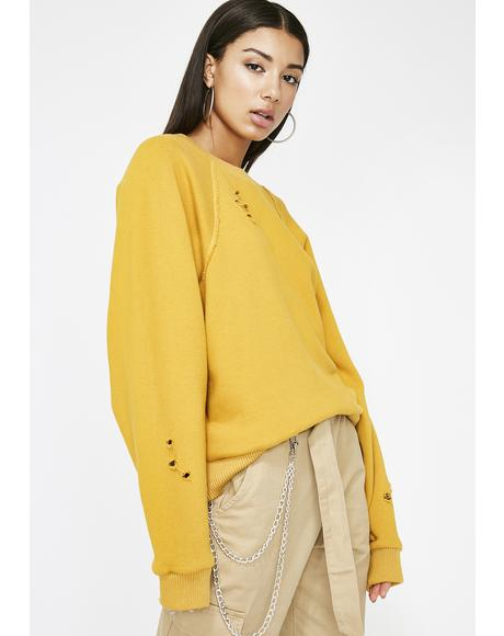 Sunny The Connect Distressed Sweatshirt