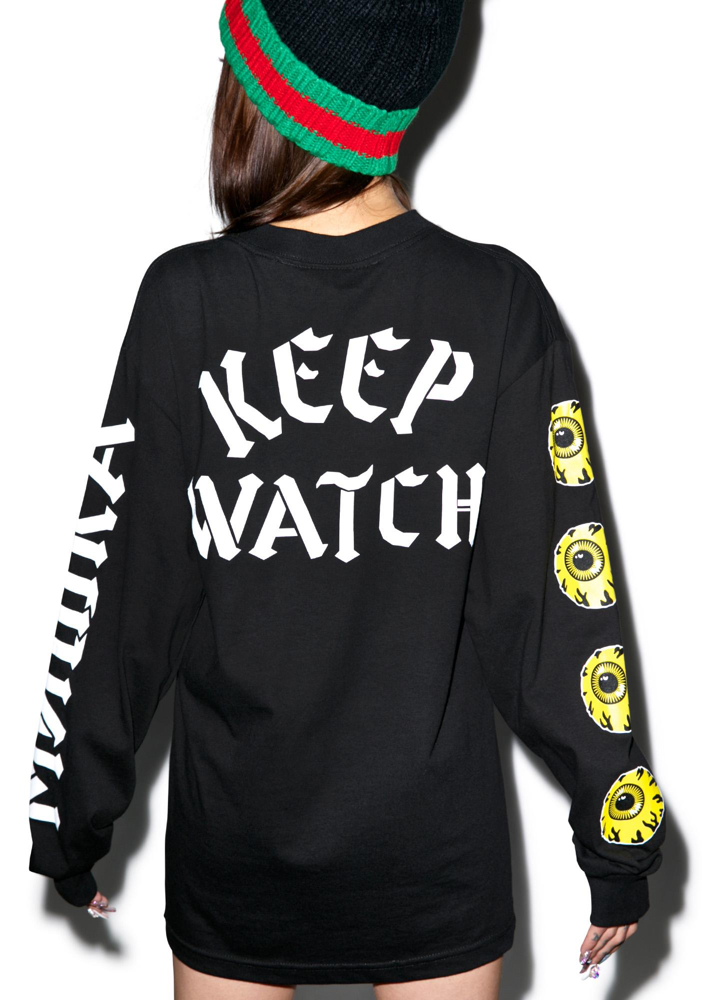 Mishka Keep Watch Long Sleeve Tee