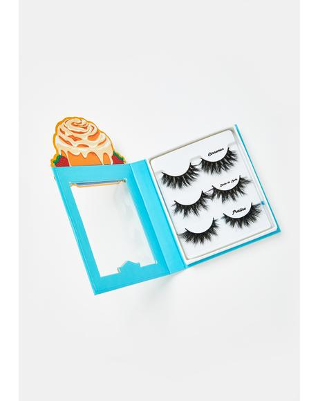 Decadent Cinnamon Roll Lashes Set Of 3