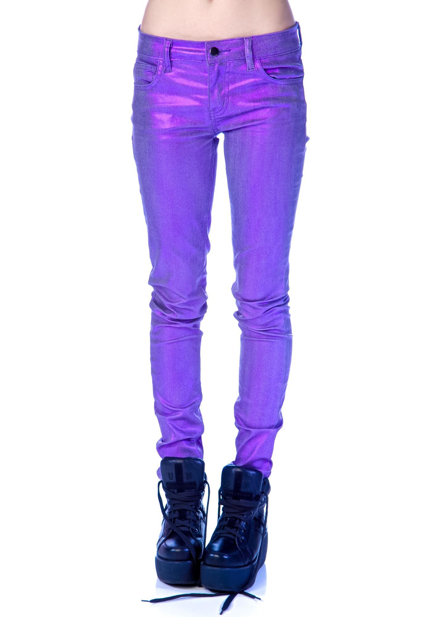 Lip Service Shimmer Stretch Skinny Jeans