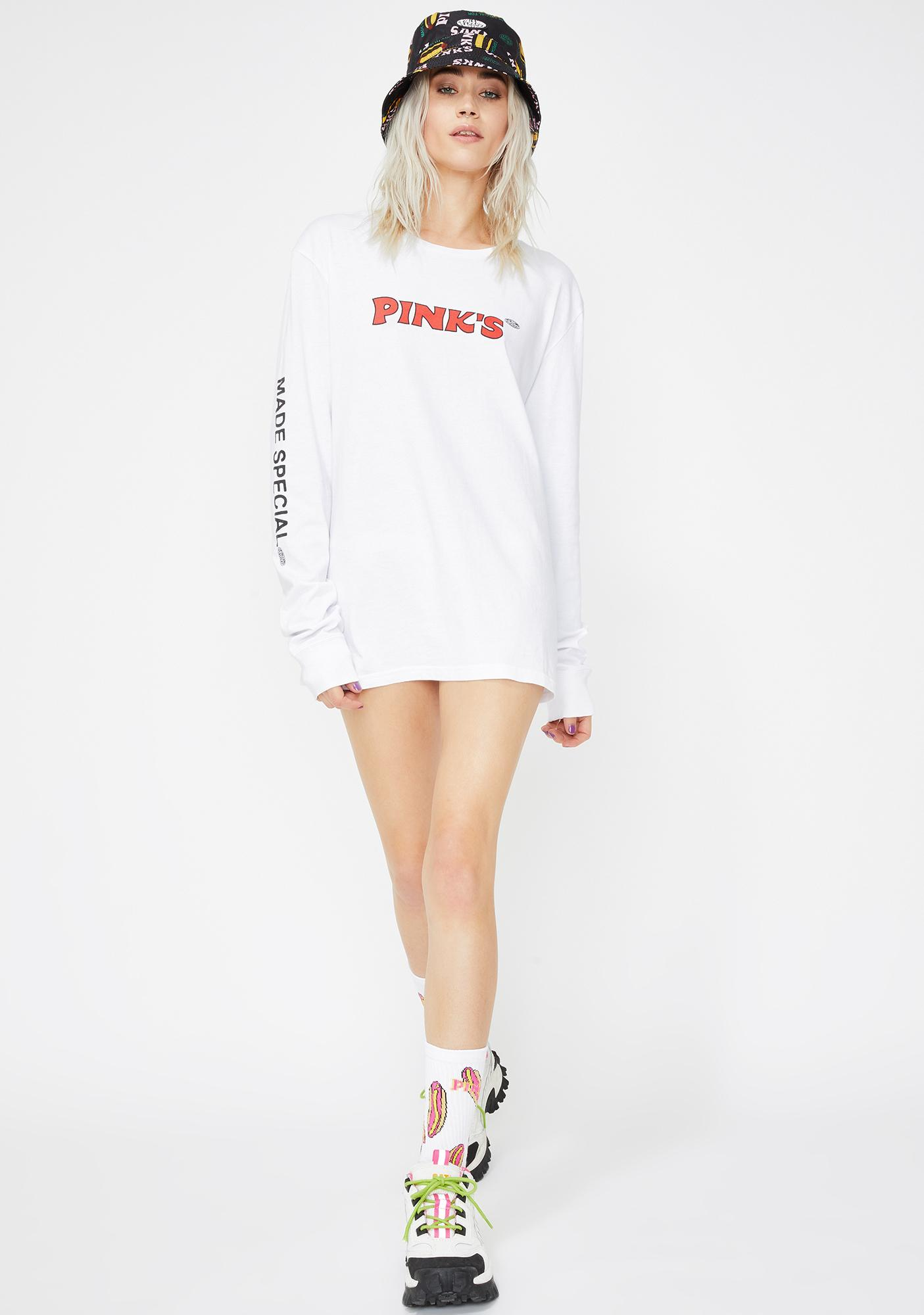 Petals and Peacocks X Pink's Hot Dogs Pink's Shine Long Sleeve Tee