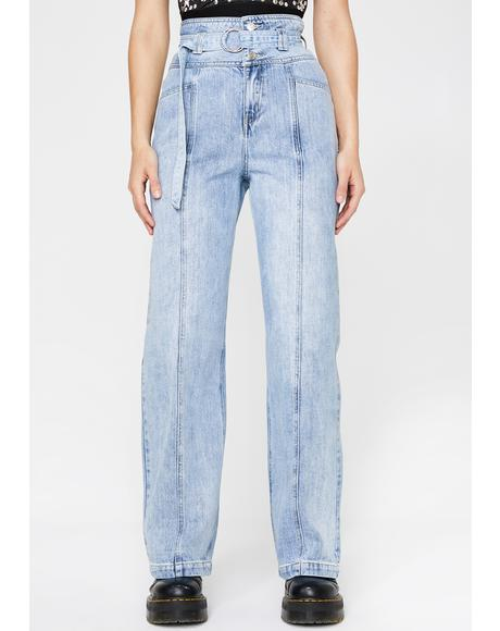 Fatal Distraction Wide Leg Jeans