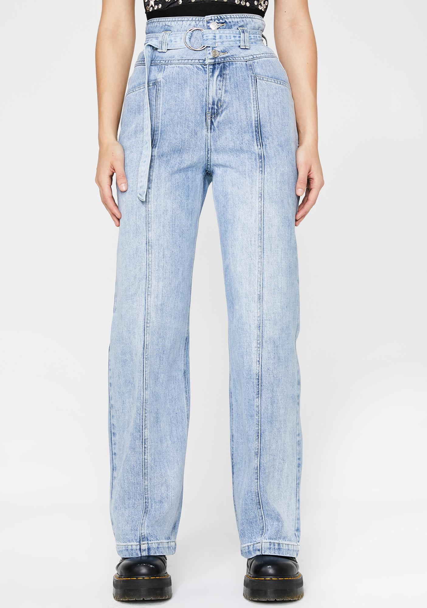 Fatal Distraction Wide Leg Jeans