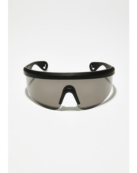 Onyx Under The Shade Shield Sunglasses