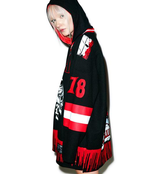 Mishka Brutal Reality Hockey Hoodie
