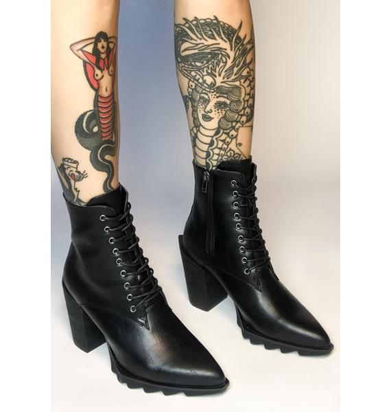 Lamoda Daredevil Lace Up Boots