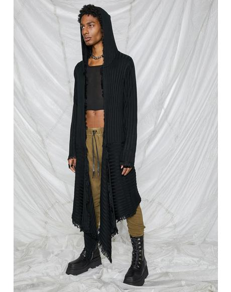 Synth Unisex Hooded Longline Cardigan