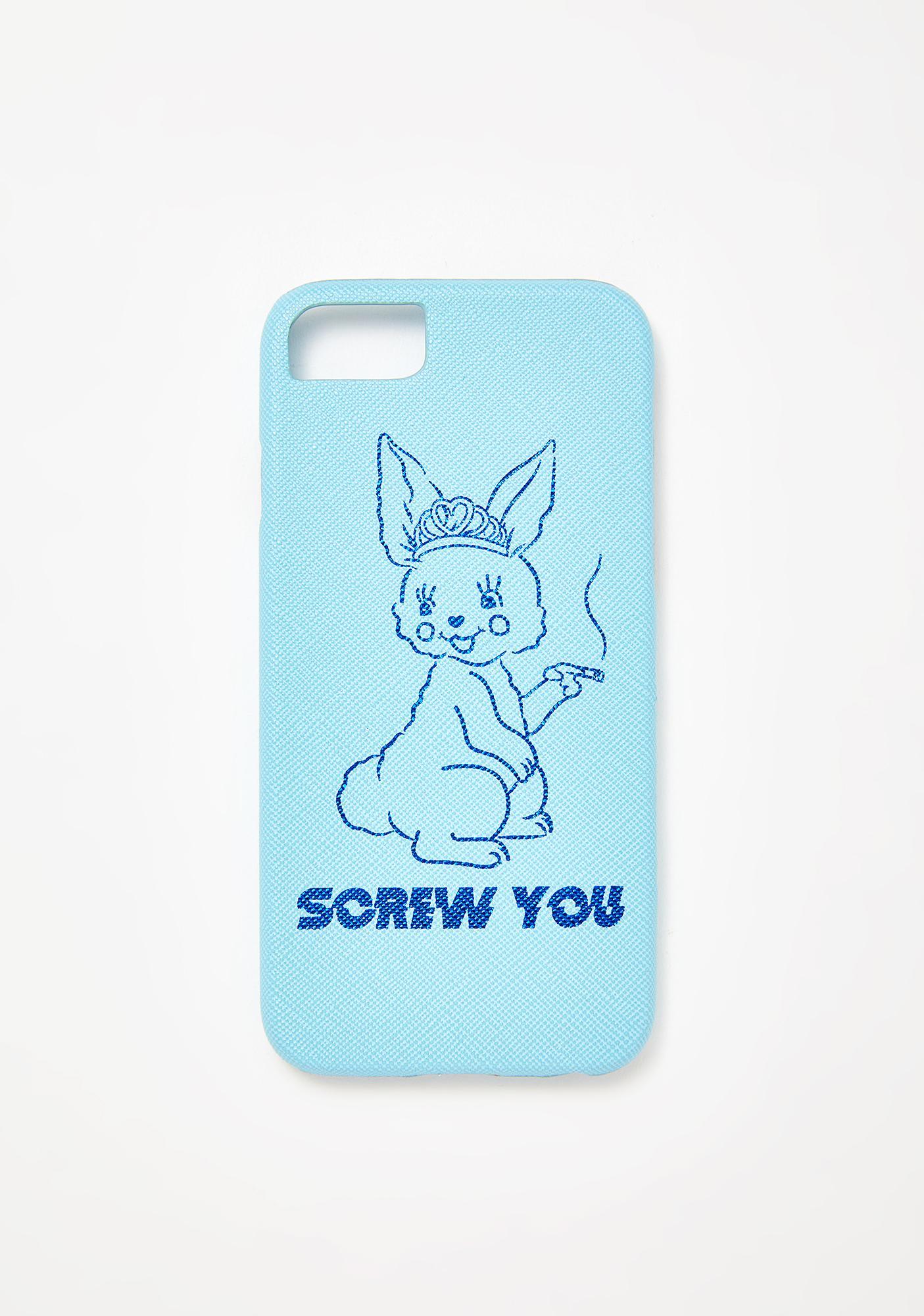 Skinnydip Screw You Bunny iPhone Case