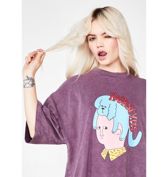Lazy Oaf Hairstyles T-Shirt Dress
