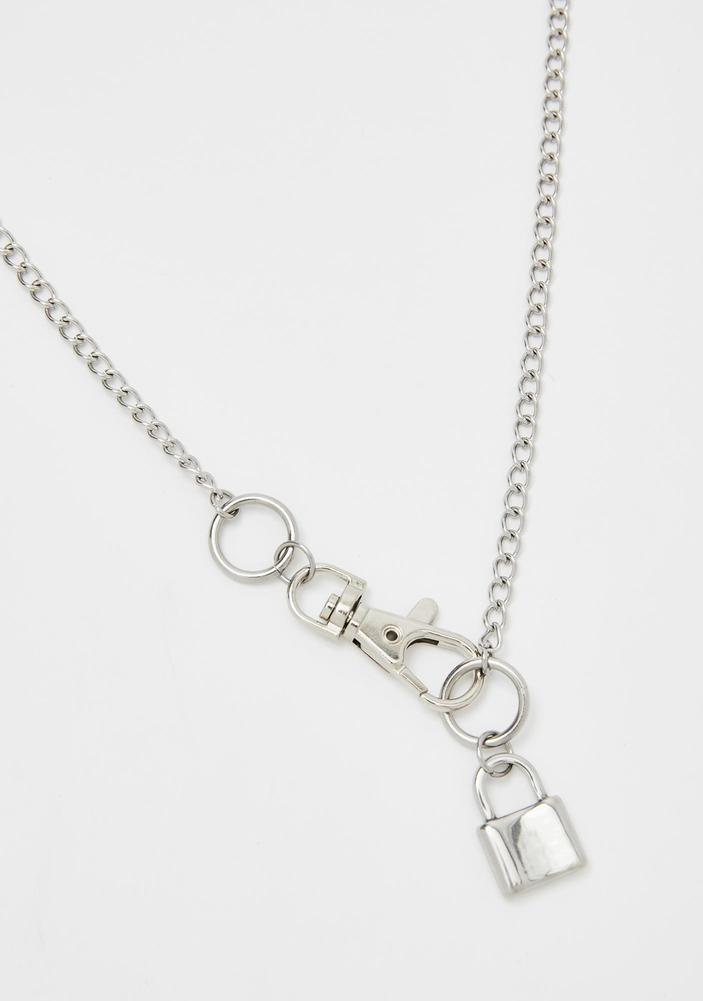 Scared Straight Lock Necklace