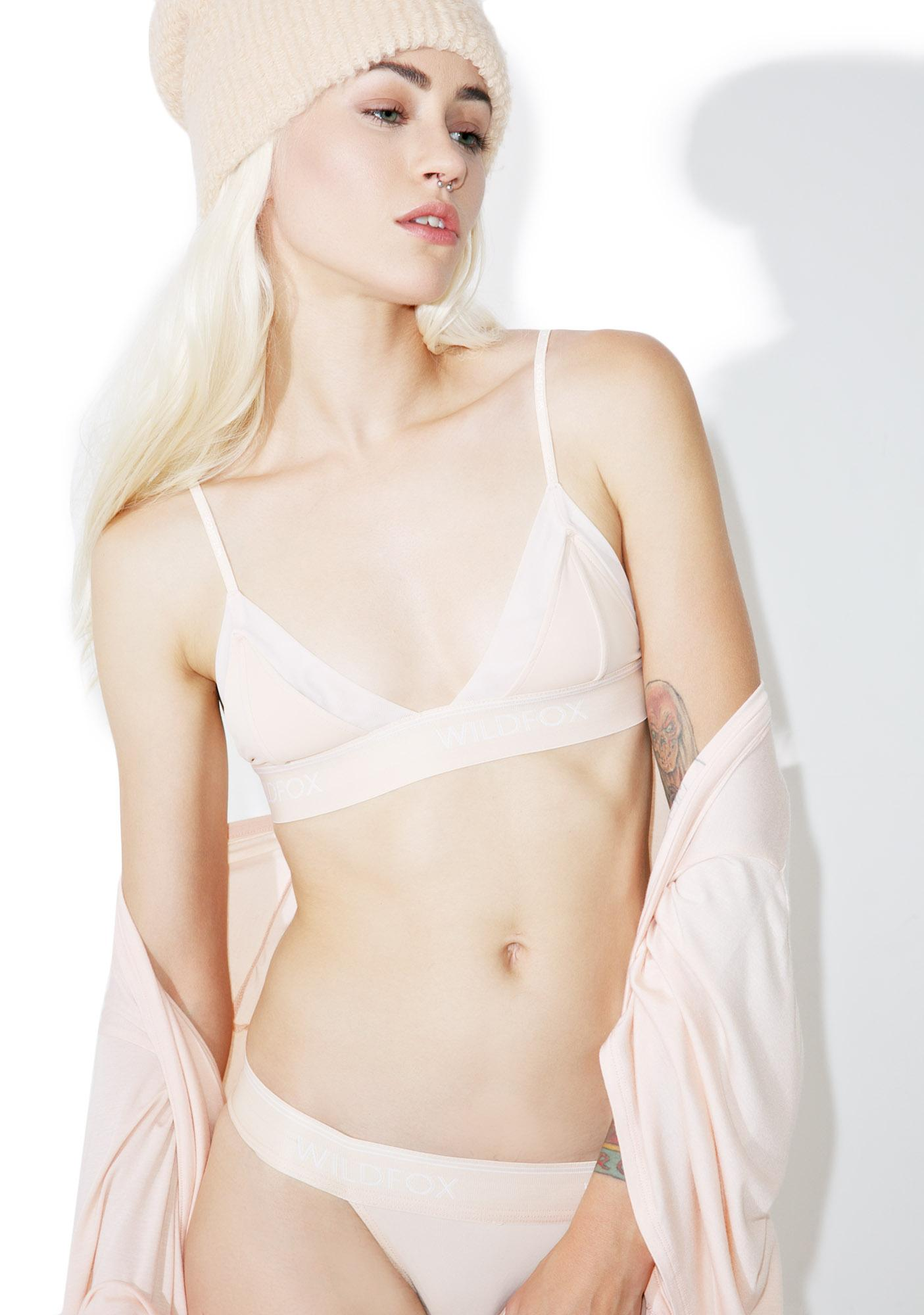 Wildfox Couture Peachy Mesh Triangle Bralette