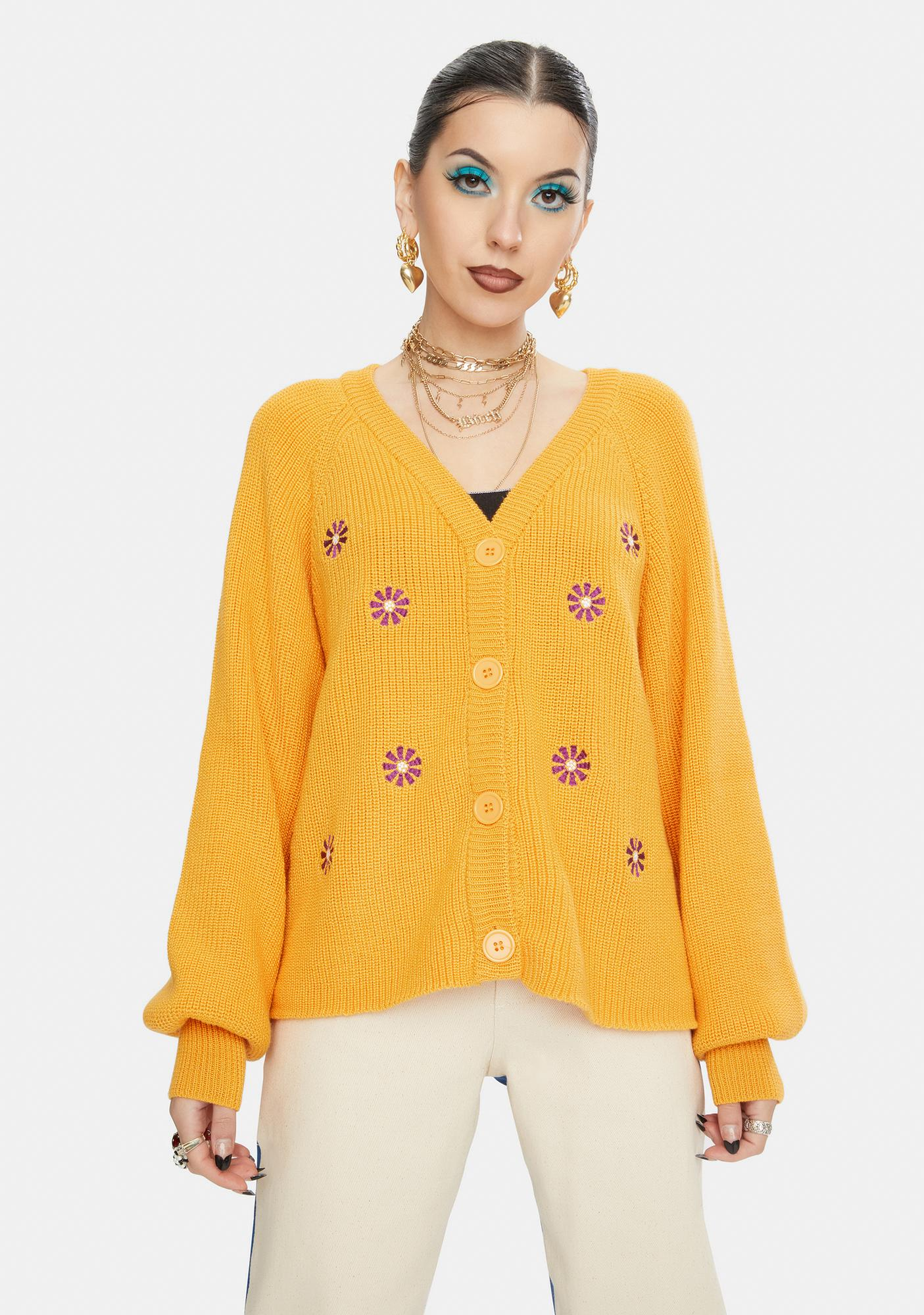 Daisy Street Carlie Embroidered Cardigan