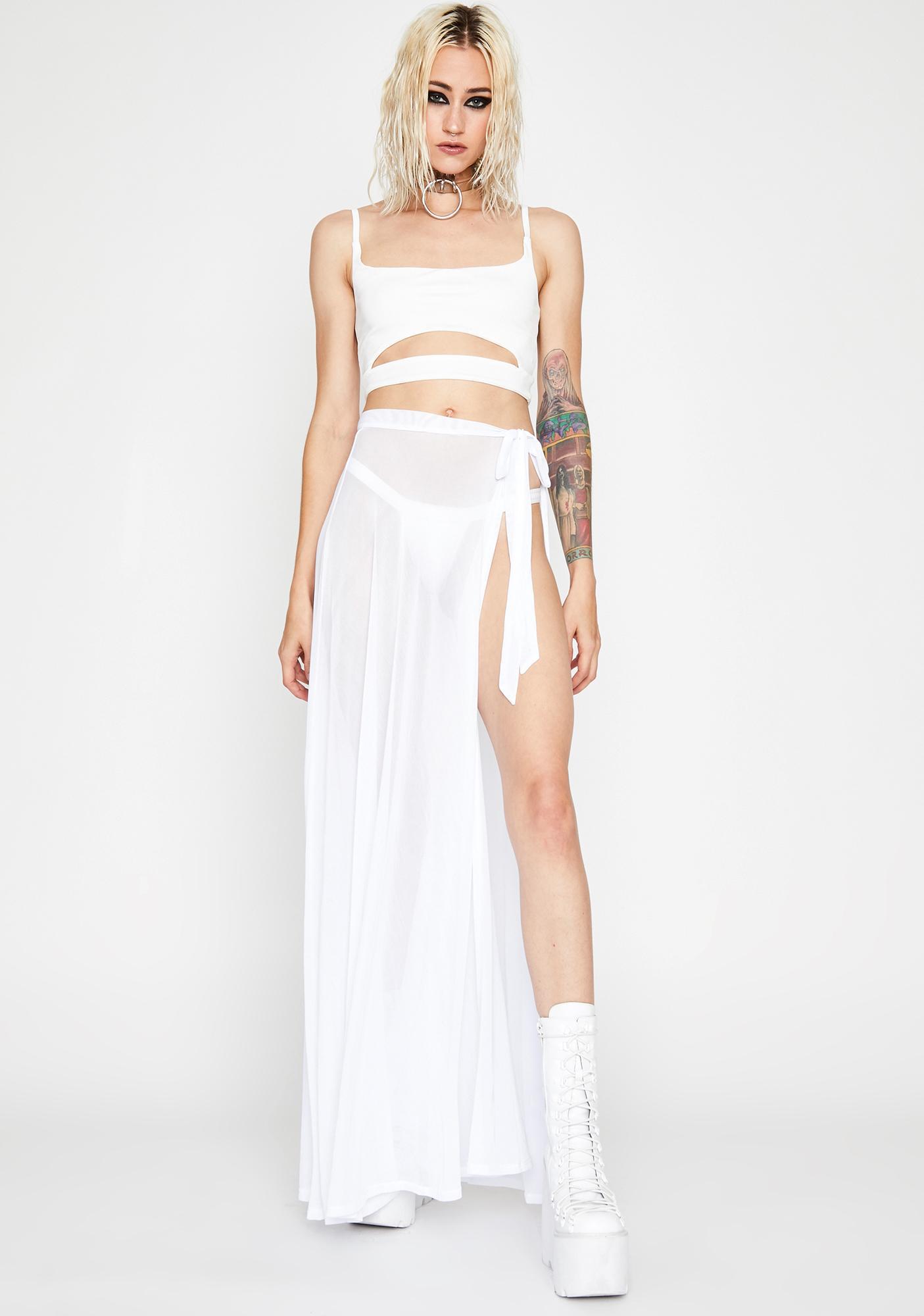 Angel Shadow Play Maxi Skirt