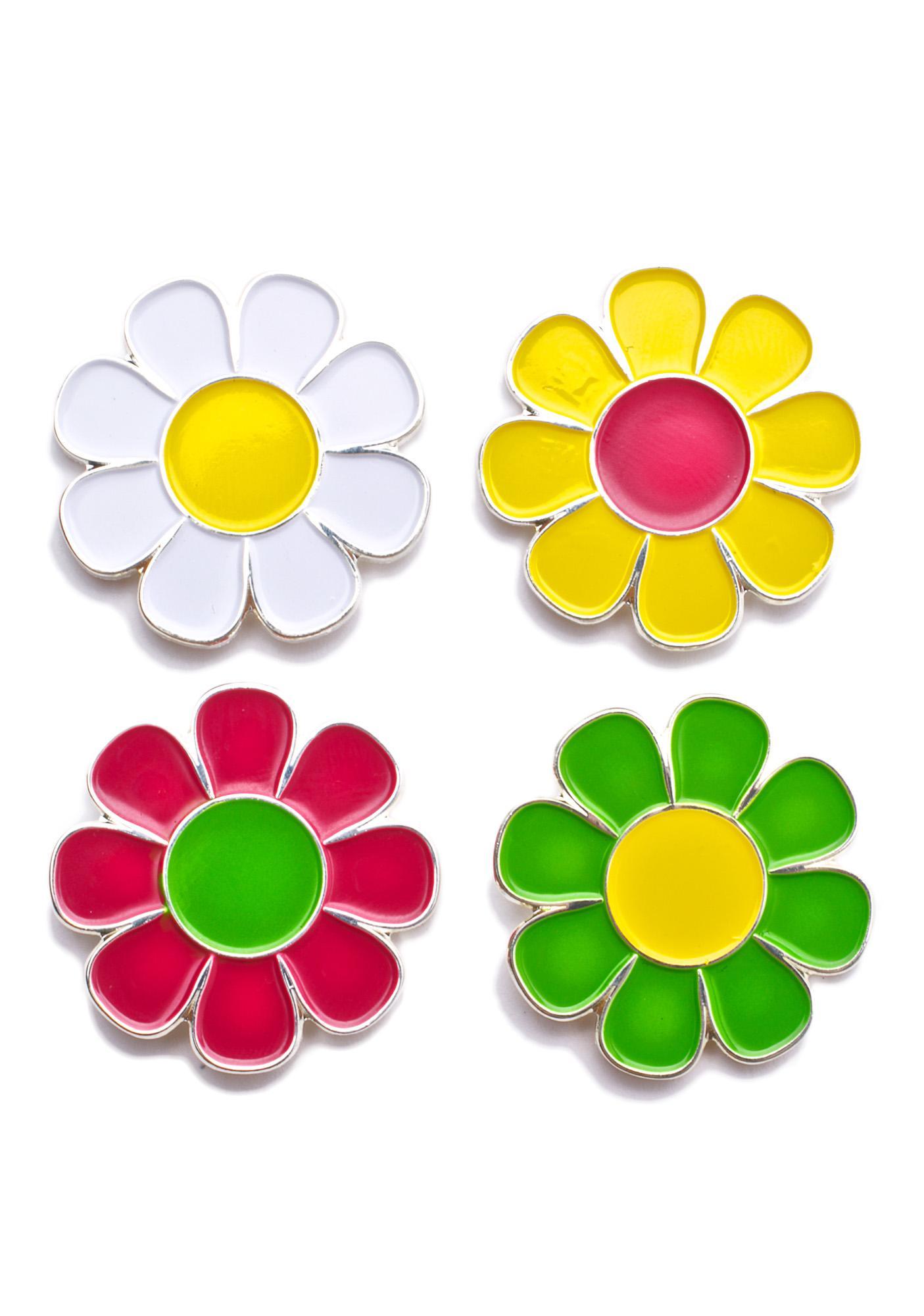 Laser Kitten Flower Pin Set
