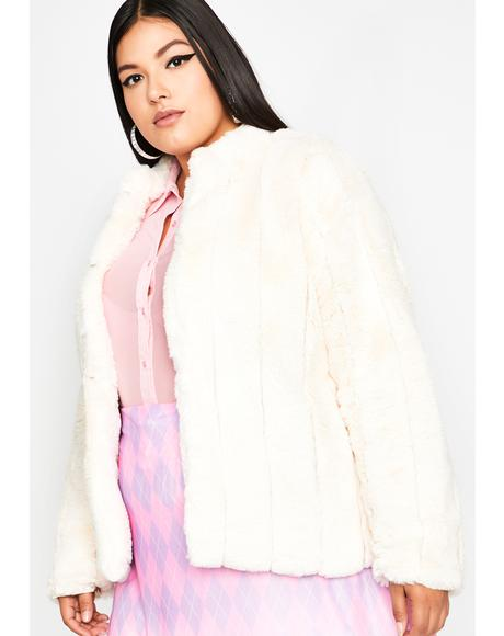 Vanilla Run It Up Fur Jacket