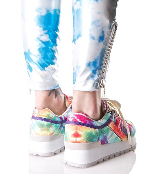 Y.R.U. Tune Rainbow Tie Dye Sneakers