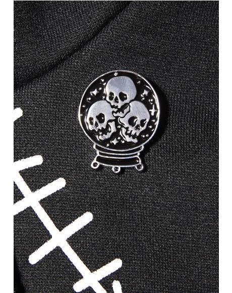 Crystal Ball Enamel Pin
