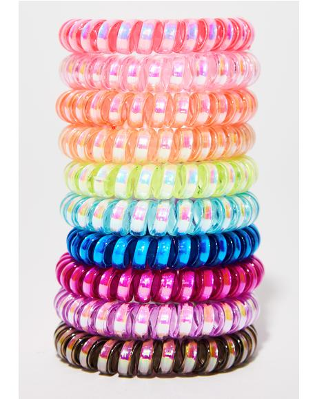 Untangled Cord Hair Ties