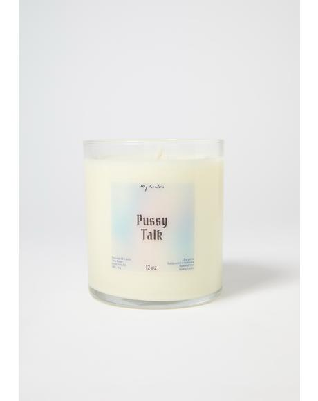My Goodies Pussy Talk Soy Massage Candle