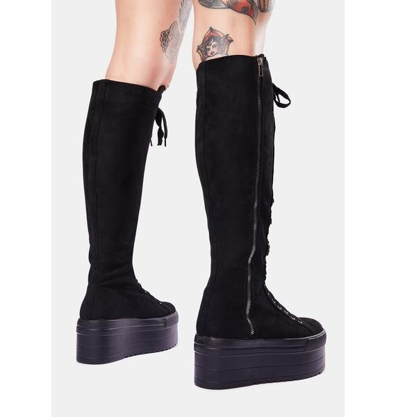 Lamoda Cruel Hearted Knee High Boots