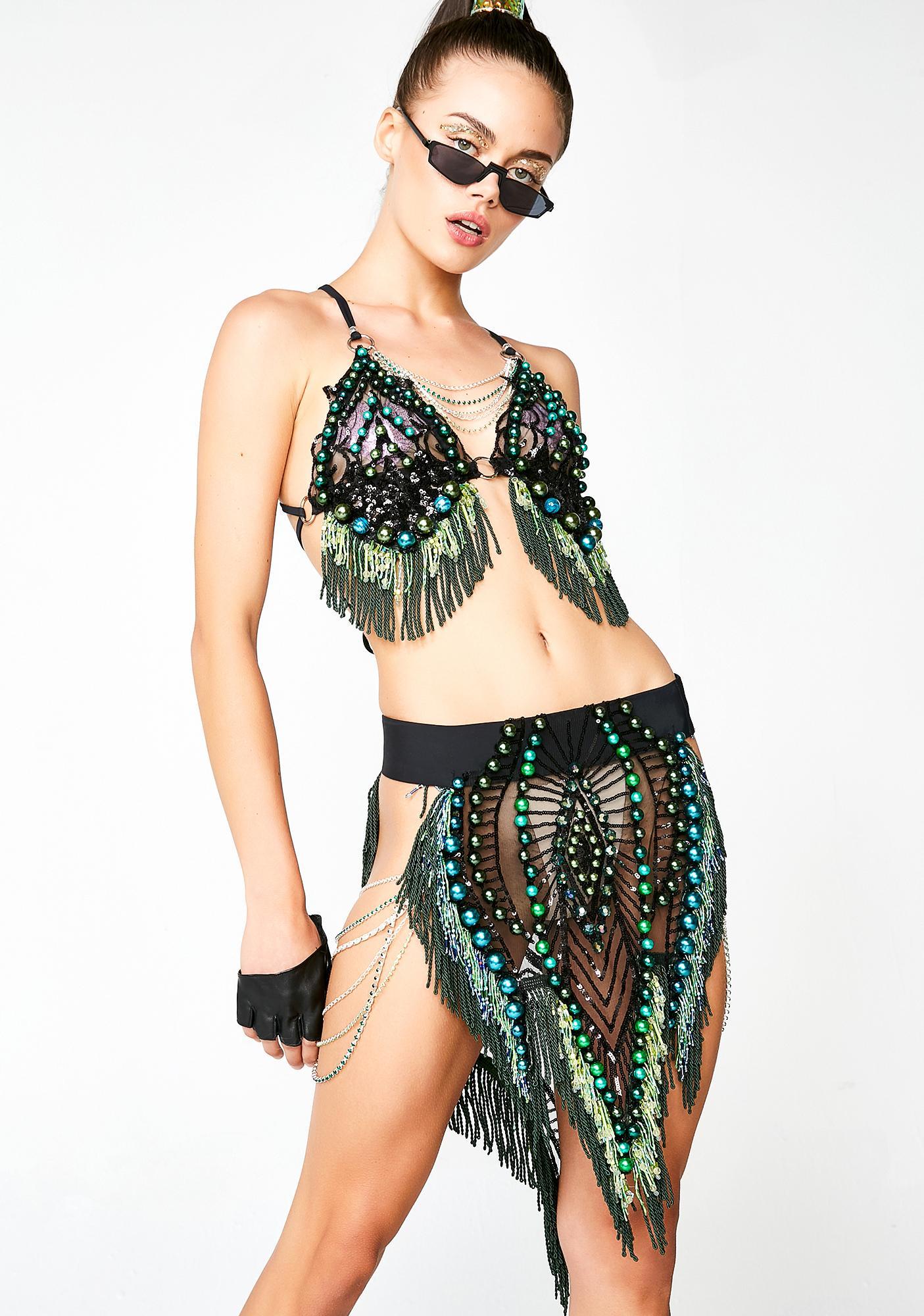 Nasteski Fashion Ivy Beaded Skirt