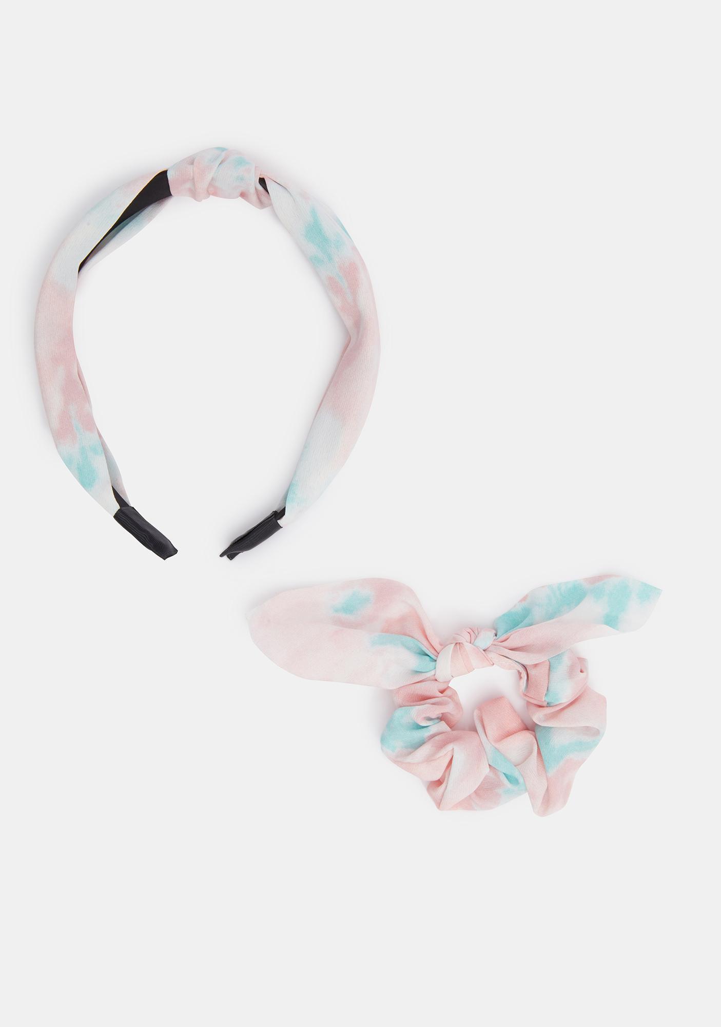Delicate Tie Dye Headband Set