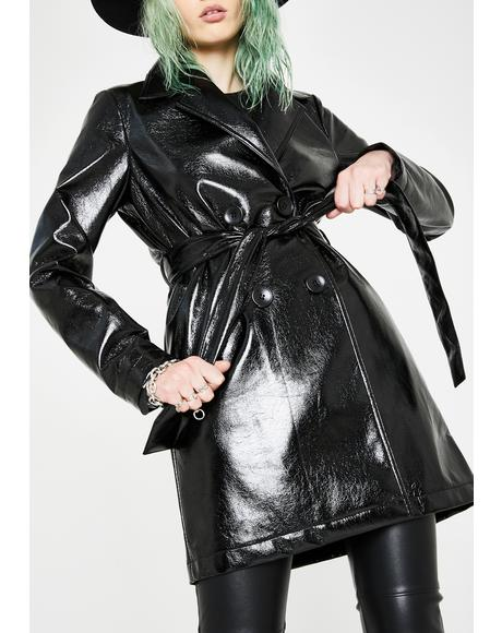 Broken Dreams PVC Trench Coat
